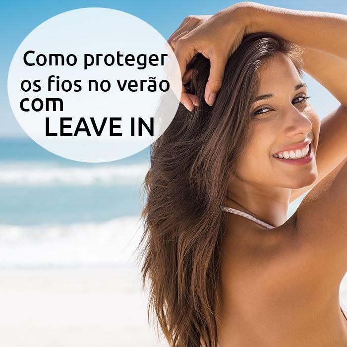 Como proteger os cabelos no verão com leave in